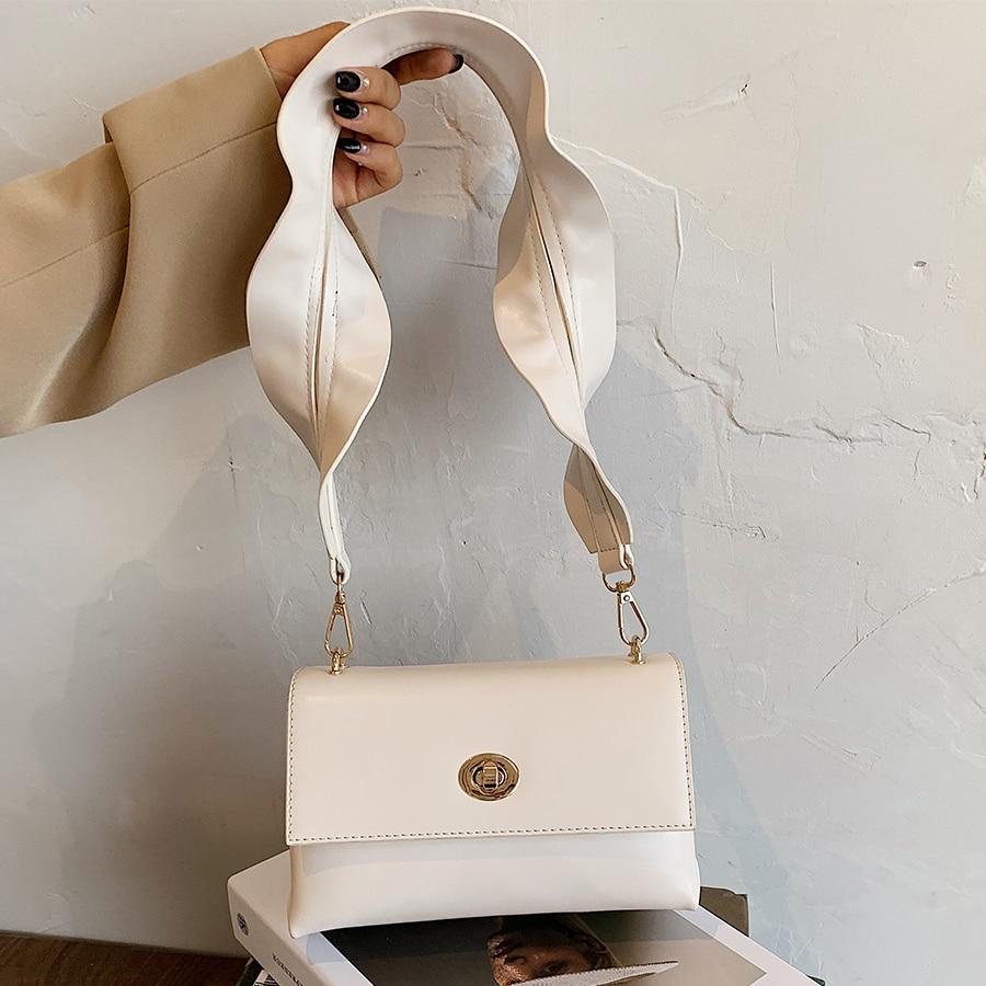 genuine leather chain shoulder bags for women luxury handbags women bags brand design fashion shoulder messenger bags for lady Women Shoulder Bags PU Leather Small Messenger Bags Wide Shoulder Strap Handbags Fashion Design Crossbody Bags for Women