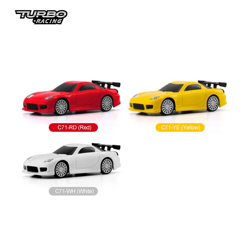 Turbo Racing 1:76 RC Sports Car C71 Mini Full Proportional Electric Race RTR Car Kit Limited Edition & Classic Edition Car Toys enlarge