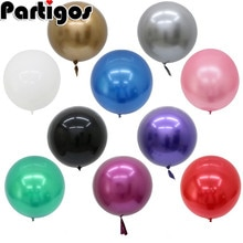 18/22/32 inch Gold Silver Glossy Chrome Bubble Balloon wedding birthday party decoration Metallic balloons Helium Supplies