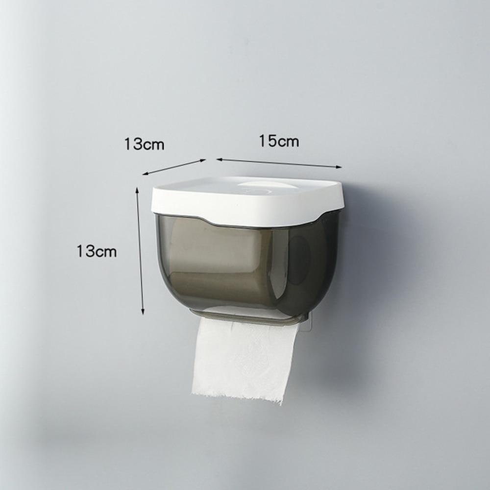 Wall Mount Toilet Paper Holder Self Adhesive Mobile Phone Rack Paper Towel Box Roll Paper Storage Shelf Bathroom Tool