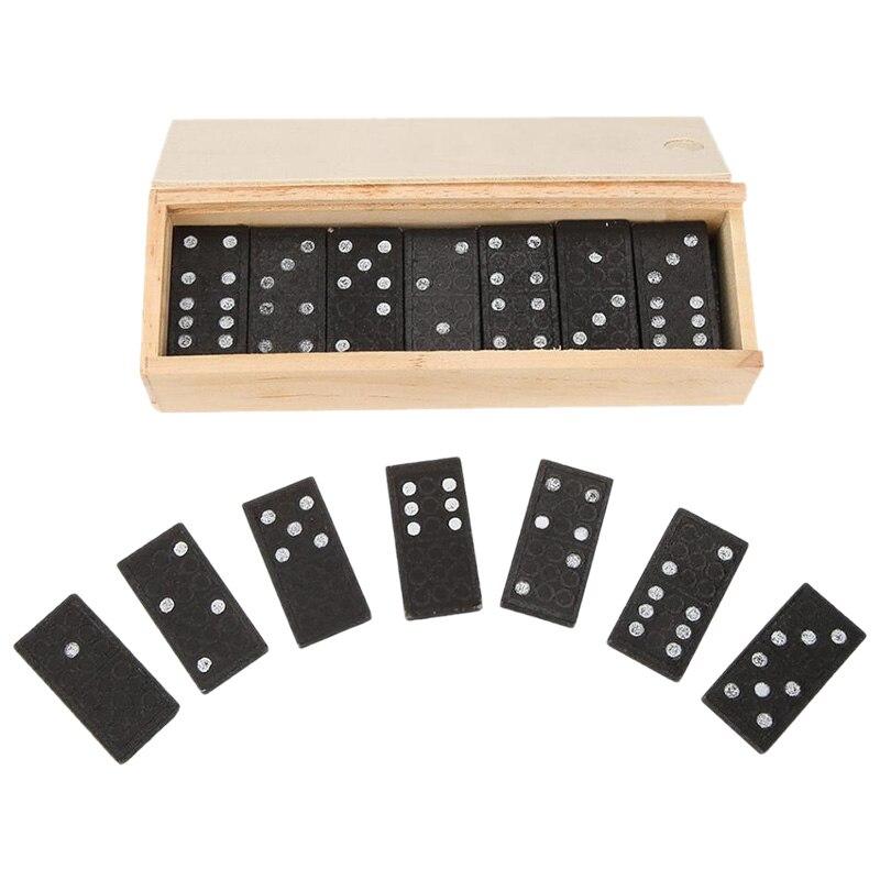 28 teile/satz Domino Brettspiel Spielzeug Set Reise Lustige Tisch Spiel Domino Blöcke Kits Frühen Pädagogisches Spielzeug für Kinder Geschenk
