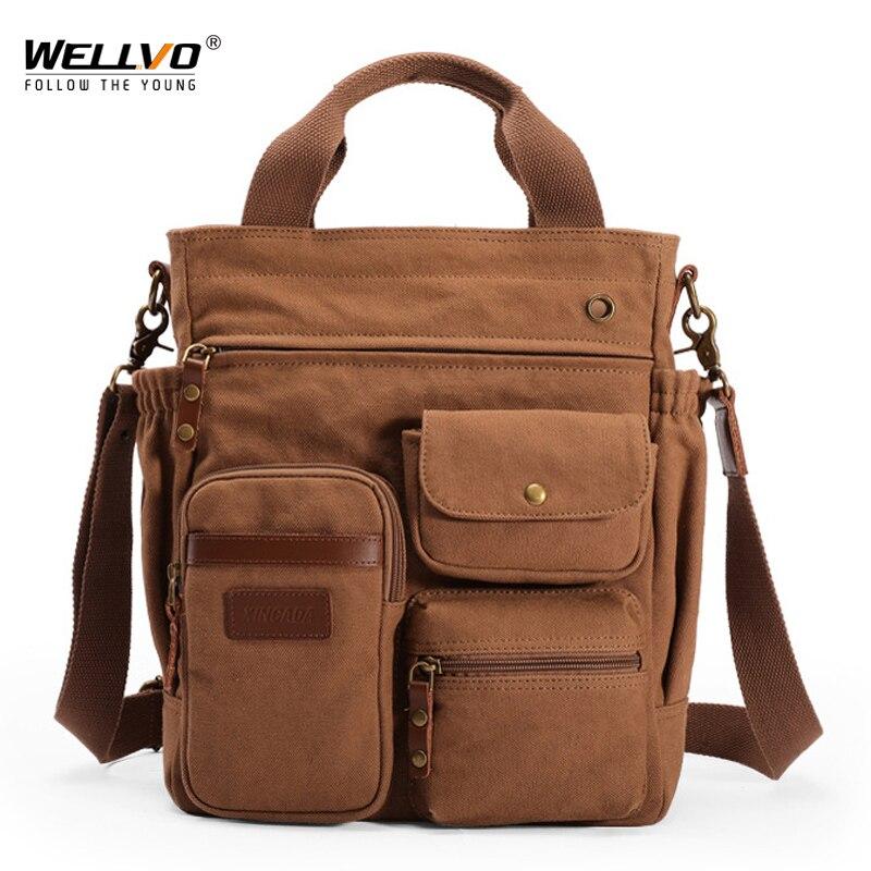 حقيبة قماشية للرجال ، حقيبة كتف ذات سعة كبيرة ، متعددة الوظائف ، للعمل ، السفر ، حقيبة يد رجالية كلاسيكية ، X74C