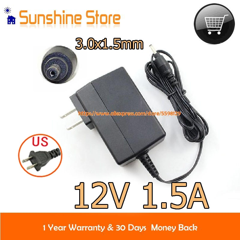 Genuine US Plug Delta 12V 1.5A AC Adapter ADP-18TH C Charger Power Supply