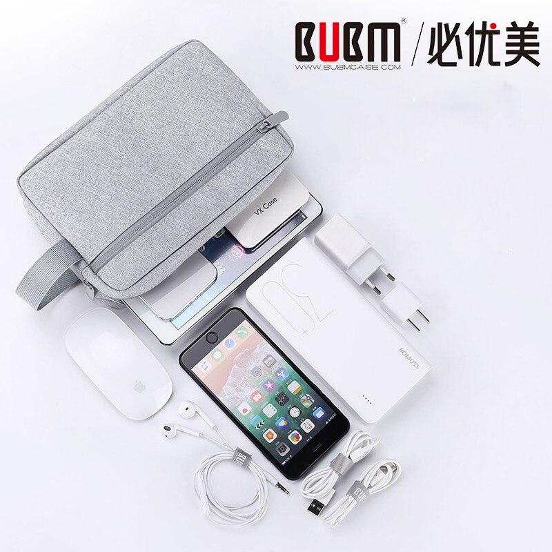 Estuche organizador de armario de viaje portátil BUBM para cargador para auriculares disco duro, dispositivos digitales bolsa organizadora de cables