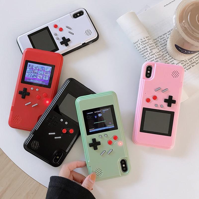 PSP jeu étui pour iPhone 11 Pro XS Max couverture pour iPhone X XR XS 7 8 6 6S doux dessin animé Gameboy mode Coque antichoc