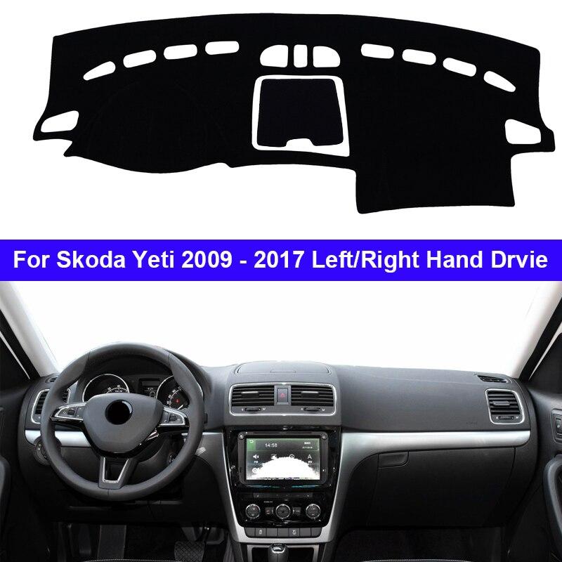 Auto Dashboard Abdeckung Dash Matte Teppich Cape Für Skoda Yeti 2009 - 2017 Anti-sonne Sonne schatten Dashmat 2016 2015 2014 2013 2012 2011