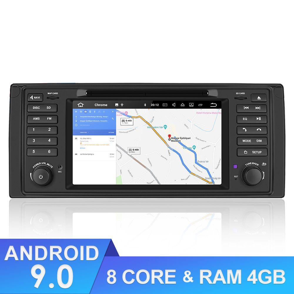Lecteur multimédia de voiture Android 9.0   Pour BMW X5 Radio, Bluetooth DSP autoradio 8 Core autoradio parktronic 1 Din Navigation GPS