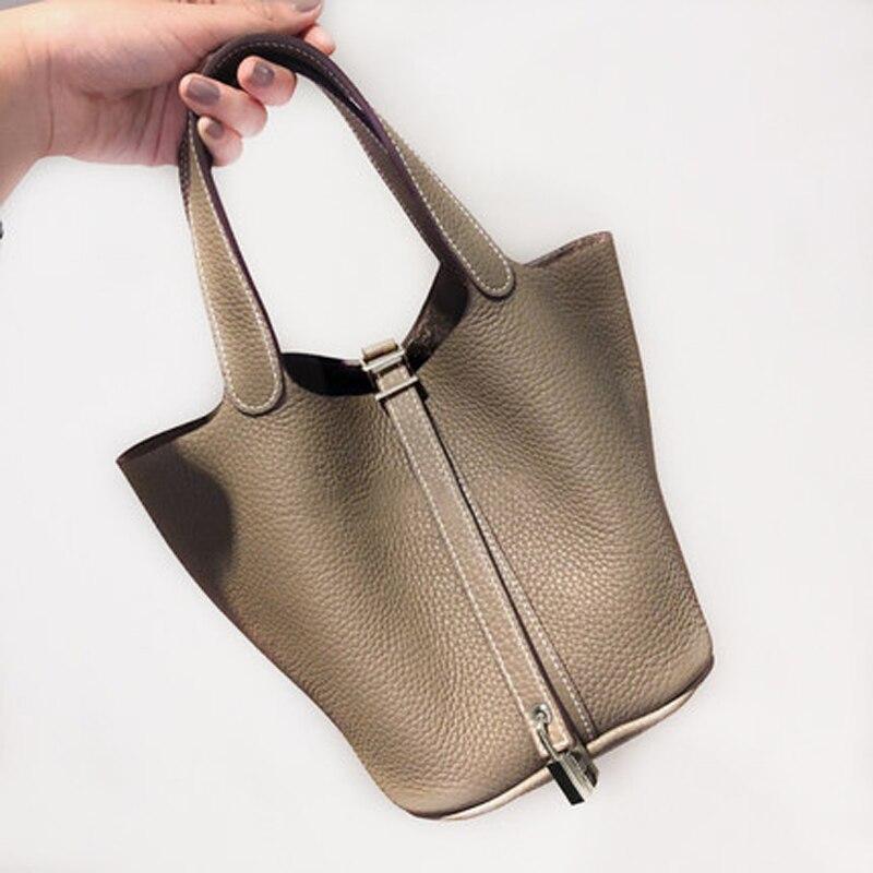 حقيبة كتف نسائية ذات سعة كبيرة ، حقيبة يد جلدية أصلية 100% ، أنيقة ، حقيبة حمل غير رسمية ، تسوق ، حقائب كتف