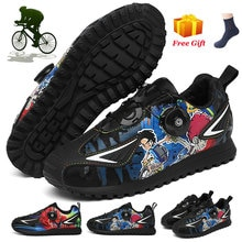 Kids Professional Cycling Shoes Boys Girls Bicycle Racing Sport Sneakers Leather Handmade Shoes Cust