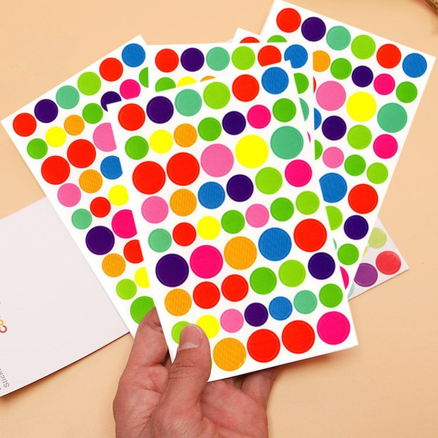6 Sheets/lot Cute Kawaii Sticker For Photo Album Decoration Lovely Heart 8