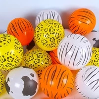 1020pcs leopard zebra tiger cow pattern latex balloons kids gift birthday party baby shower decor boy animal zoo theme supplies