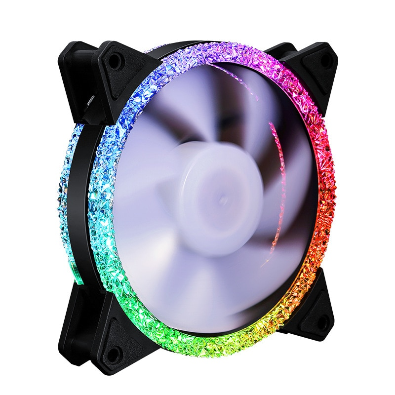120mm Diamond Cooling Fan 3/4PIN 6PIN 12CM RGB Synchronous Case Fan with Remote Controller Computer  Fans desktop  mute computer coolmoon 120mm pc computer case fan cooling cooler 6pin adjustable rgb mute ventilador rgb case fans adjust speed
