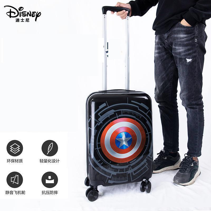 Original Disney Children Trolley Case Kids 18-inch Silent Caster Anti-compression And Anti-fall 20-inch Marvel Luggage Suitcase