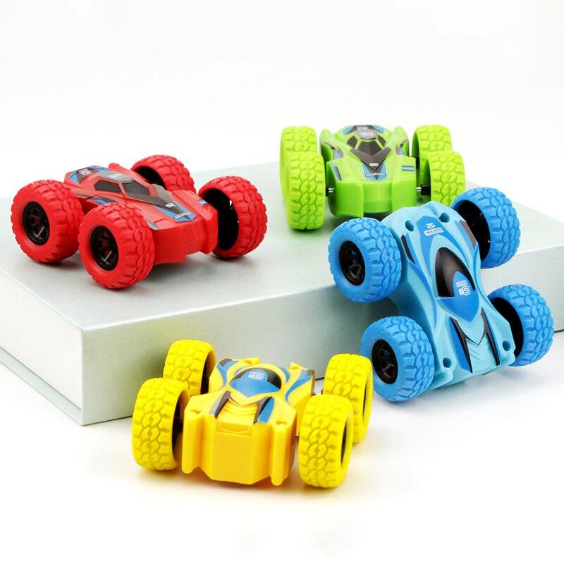 ¡Oferta! Juguete de cuerda para bebés, coche para niños resistente a las caídas, giro de 360 grados, coche inercial de doble cara, juguetes educativos, regalo para niños