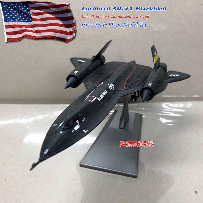 WLTK 1/144 весы, военные модели, игрушки, SR-71, Blackbird, литой металлический самолет, модель, игрушка для коллекции, подарок, для детей, украшения