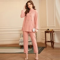 new muslim arabian dubai dress set pink handmade nail diamond dress eid mubarak islamic oman blouse pants two piece prayer suit