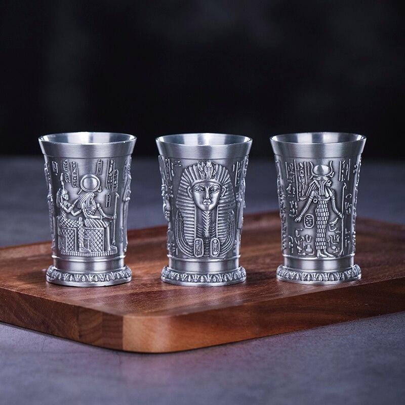 مستوحى من الأساطير القديمة في مصر ، معدن فضي ، برونز ، زجاج ، كوكتيل ، B52 ، فرعون ، كليوباترا ، راميس