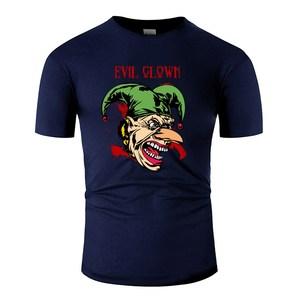 Забавный злой клоун 15 кровавый Мужская футболка с вырезом лодочкой Мужская футболка негабаритных S-5xl Kawaii Pop Top Tee