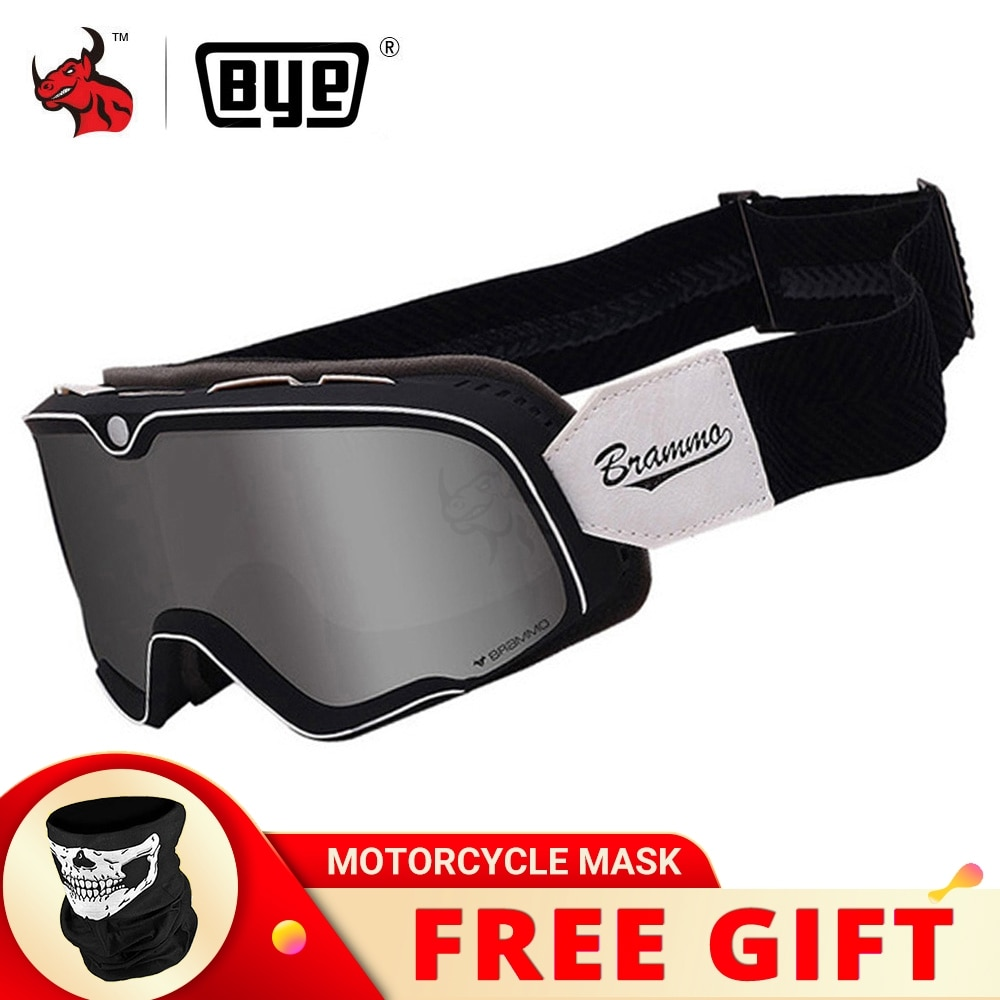 BYE Retro Motorcycle Glasses Steampunk Copper Glasses Motorcycle Goggles Vintage Biker Eyewear Goggles Windproof Glasses