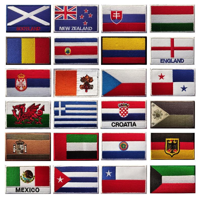Значок флага на липучке, вышитые военные тактические военные патчи, флаги Португалии, тканевые наклейки, наплечная эмблема, Applieque DIY