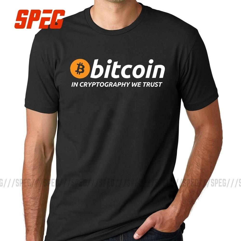 Футболки Биткоин в криптографии We Trust Мужская футболка с О-образным вырезом и коротким рукавом Cryptocurrency мужские Забавные футболки хлопковая одежда