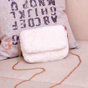 Faux Bag Women 2020 Chain Crossbody Shoulder Handbag Purse Brand Designer Handbags Fashion Winter New