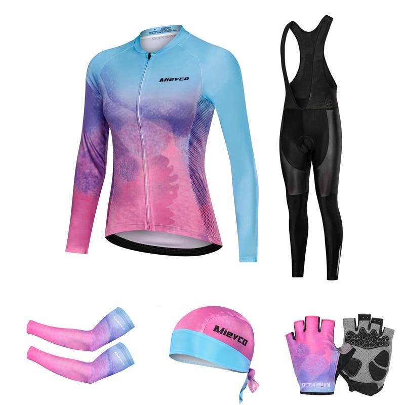 Conjunto De Ropa De Ciclismo De equipo para Mujer, Maillot, Otoño, 2020
