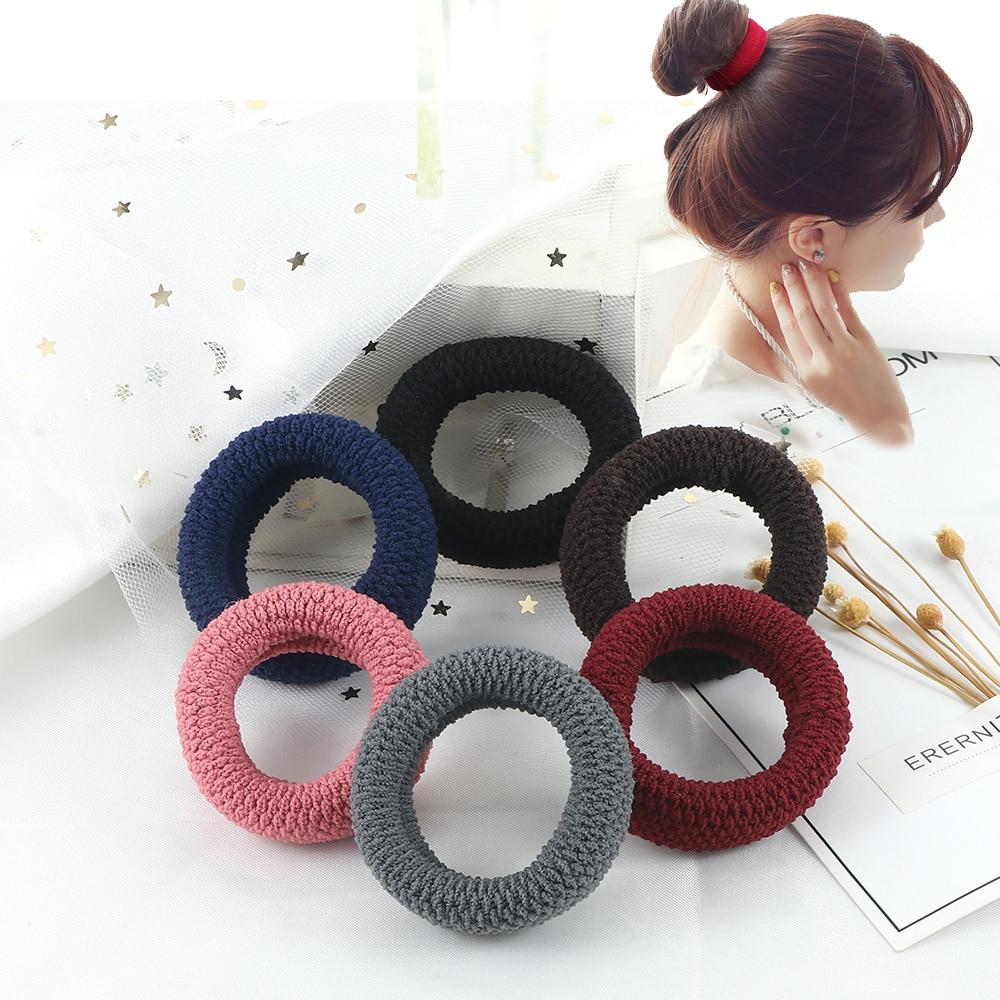 AliExpress - 6Pcs/Lot Solid Color Basic Rubber Bands Simple High Elastic Hairband Girls Headwear Headband Fashion Women Gum Hair Accessories