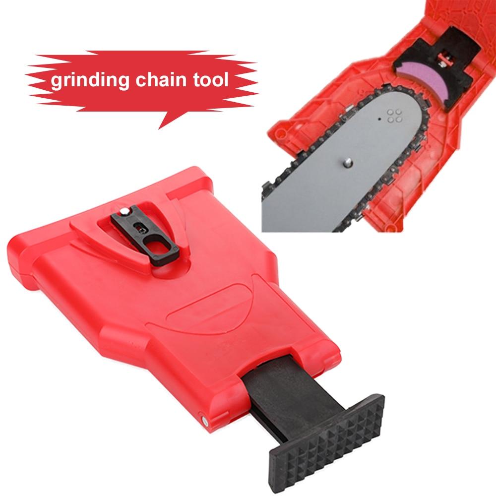 Chainsaw Teeth Sharpener chainsaw Portable Durable Easy Power Sharp Bar-Mount Fast Grinding Chainsaw Chain Sharpener Tool недорого
