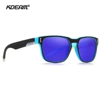 kdeam metal hinge mirrored polarized sunglasses men square sport sun glasses matte soft cover frame uv400 gafas de sol kd1302