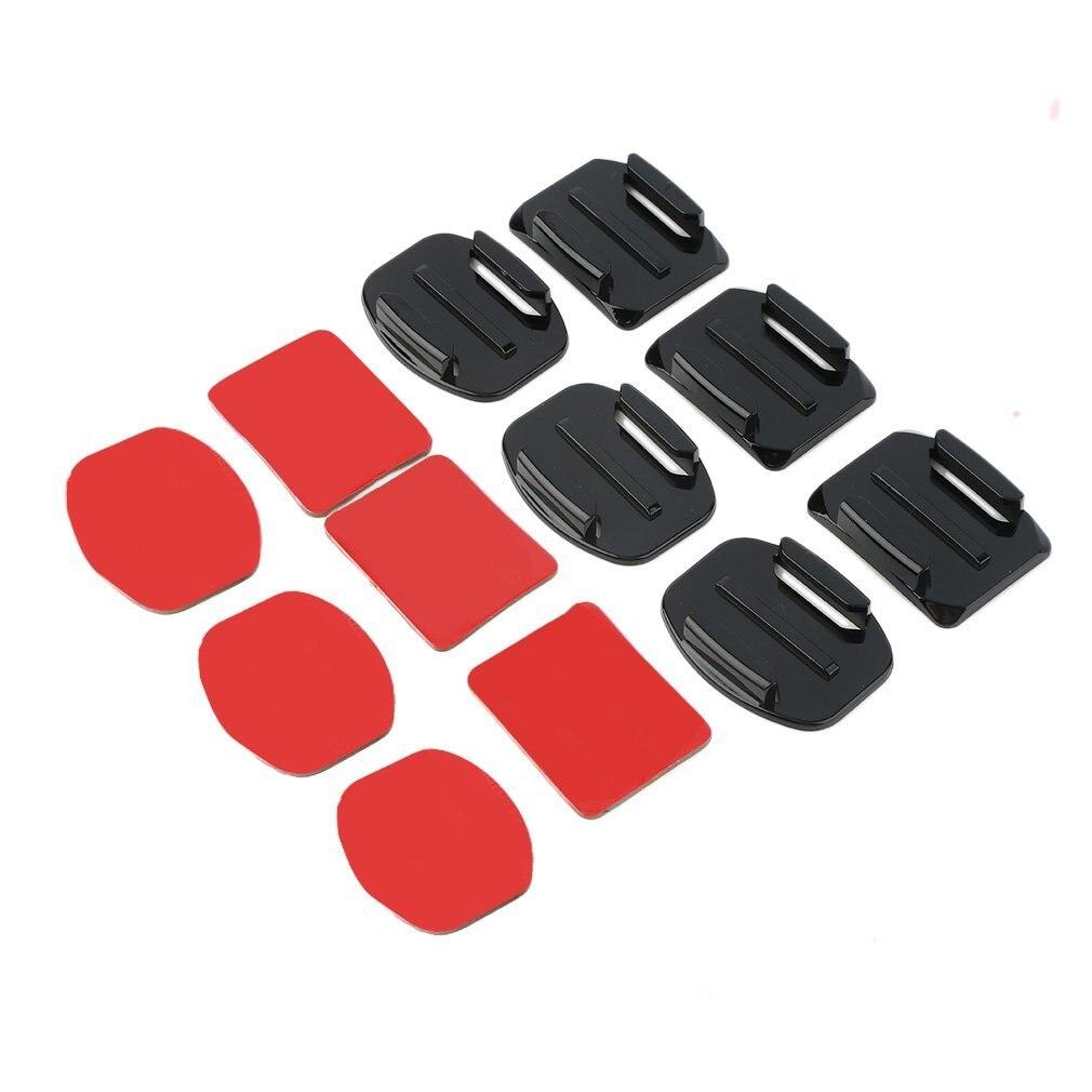 VENDA QUENTE! 12 pçs capacete acessórios plana curvo adesivo montagem para gopro hero 1/2/3 /3 +, em estoque! Jogos de acessórios de câmera de ação