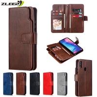 Чехол-бумажник для Xiaomi Poco X3, 11, Redmi 9A, 9C, 6, 6A, 7A, 8A, Note 7, 8, 8T, 9T, 9S, 10 Pro Max, кожаный, с отделением для карт, чехол для телефона