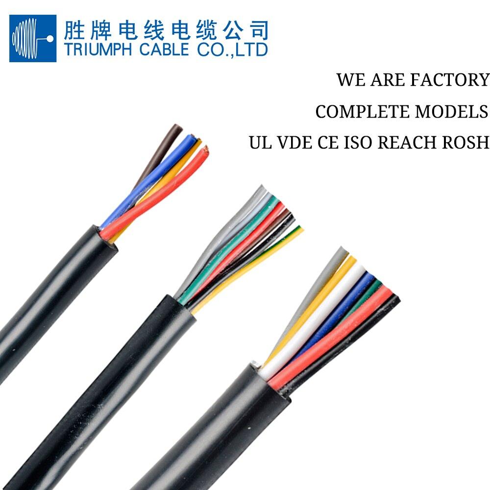 Cable TRIUMPHCABLE / SHENGPAI negro de alta flexibilidad 10 M RVV 1,0mm...