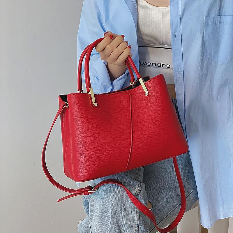 Luxury Designer Wedding Women Handbag Quality Pu Leather Tote Bags Top Handle Bag Lady Elegant Patchwork Shoulder Messenger Bag