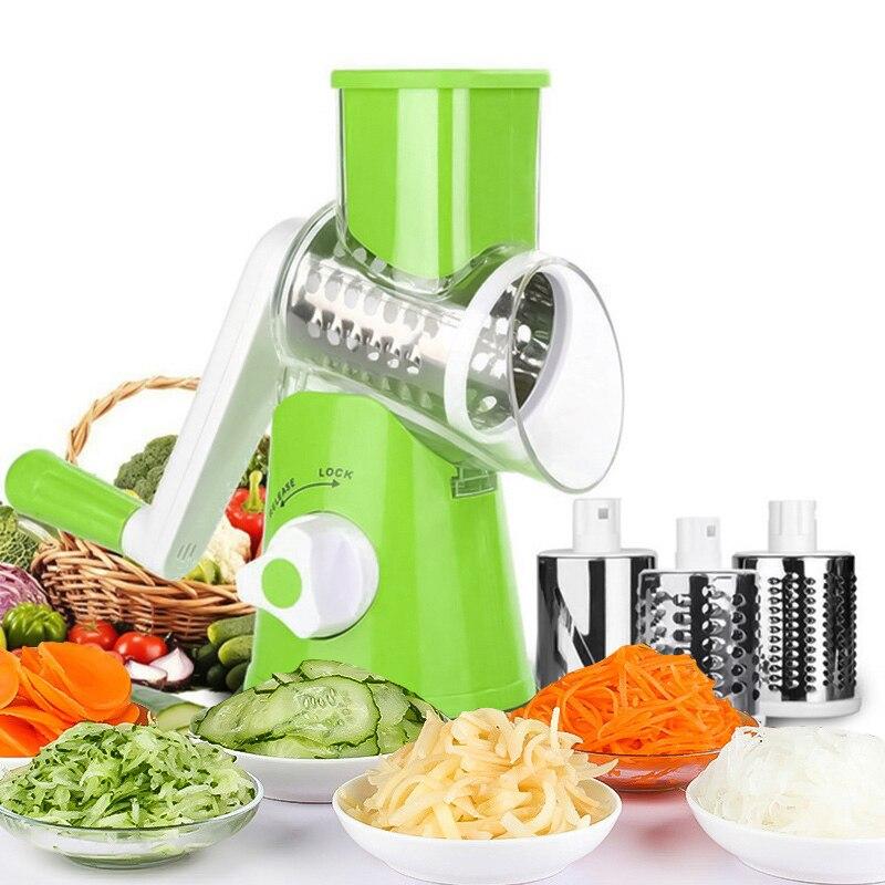 3 أنماط متعددة الوظائف المطبخ القطاعة الجزرة أداة تقشير البطاطس مبشرة قطاعة الخضراوات المروحية تمزيقه أدوات المطبخ اكسسوارات