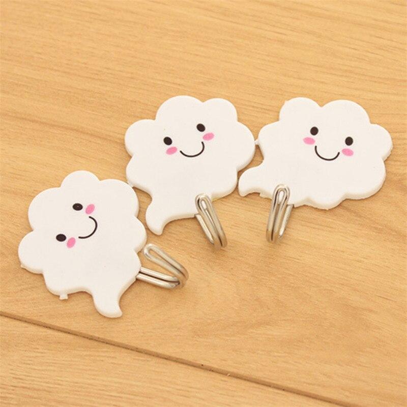 3 pçs ganchos adesivos vara na parede pendurado porta roupas toalheiro cremalheiras auto banheiro cozinha nuvens cabide