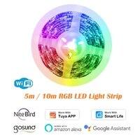 WiFi 5050 LED Smart Light Strip 5m   10m RGB dimmerabile Smart Home Automation lavora con Tuya Smart Life gosand Alexa Google Home