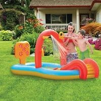 summer inflatable swimming pool with sliding pool sprinkler water toy for children bathing tub outdoor kids baby paddling toy
