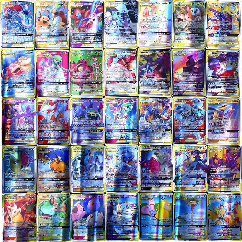 pokemon team up game card pokemon english flash card battle card child game cards english flash cards educational toys Pokemon Toys gx non repeat Shining English Cards Game Battle Carte Trading Children francaise Pokemon card French Toys