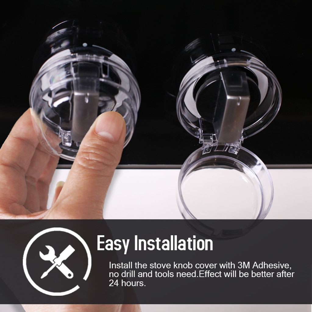 2 Pieces Kitchen Stove Knob Covers, Baby Safety Gas Stove Knob Protector for Child Proofing