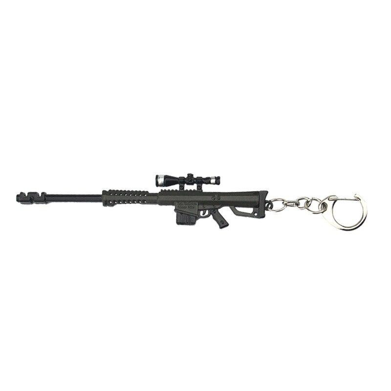 1pcs Gun keychain PUBG CSGO CF destroyer Sniper rifle pendant M82A1 keyring  men car key holder backpack accessories chaveiro