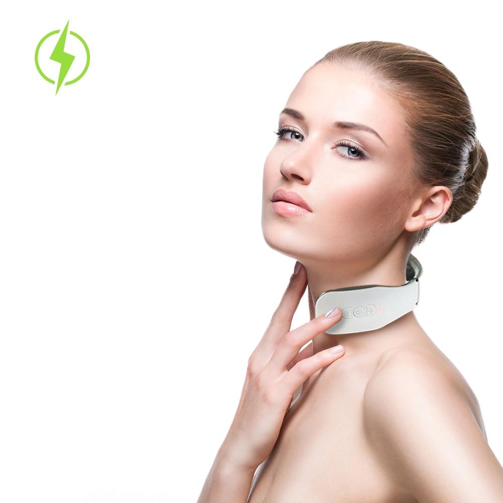الرقبة مدلك الكهربائية عشرات نبض فقرة عنق الرحم العلاج الطبيعي الساخن ضغط أداة مسكن للرعاية الصحية والاسترخاء