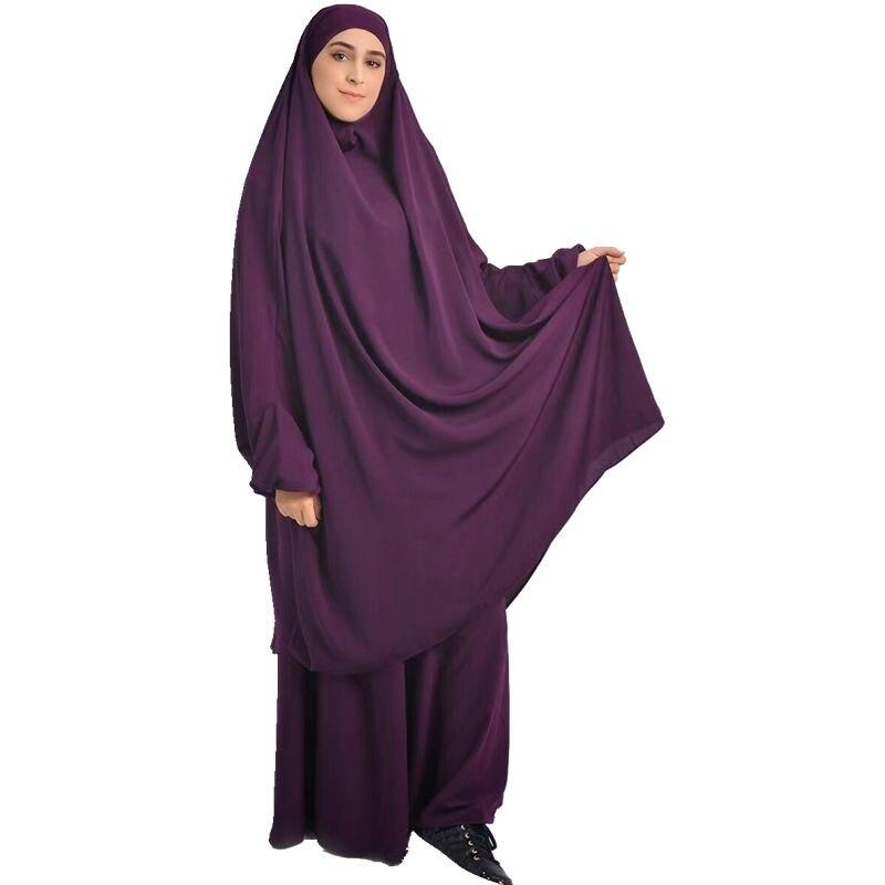 Мусульманский Для женщин молитва длинные жен Абаи джилбаба наряд полное покрытие хиджаб платье Рамадан юбка Musulman Jurken кимоно