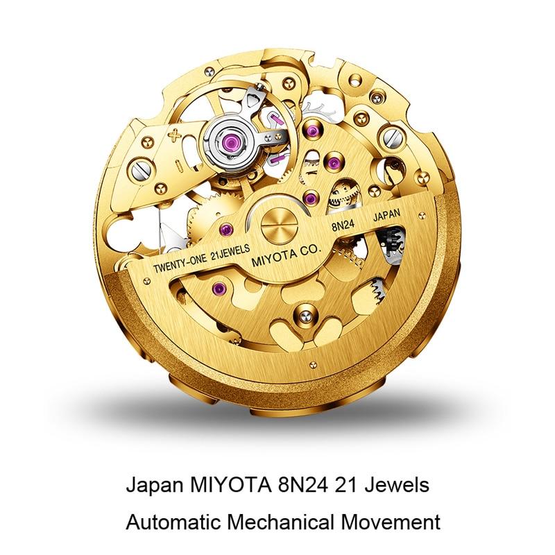 Switzerland LOBINNI Women Watches Luxury Brand Japan MIYOTA 8N24 Automatic Mechanical Clock Sapphire Diamond Ladies Watch L2002 enlarge