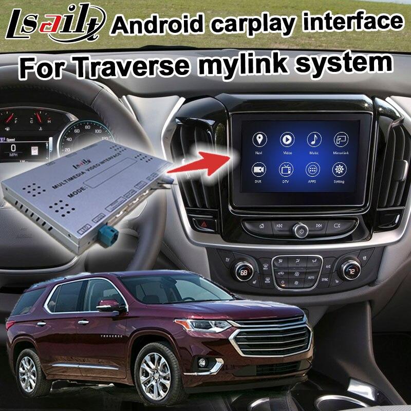 Android/interfaz carplay caja para Chevrolet Traverse 2016-GPS vídeo, navegación interfaz mylink señal sistema Lsailt
