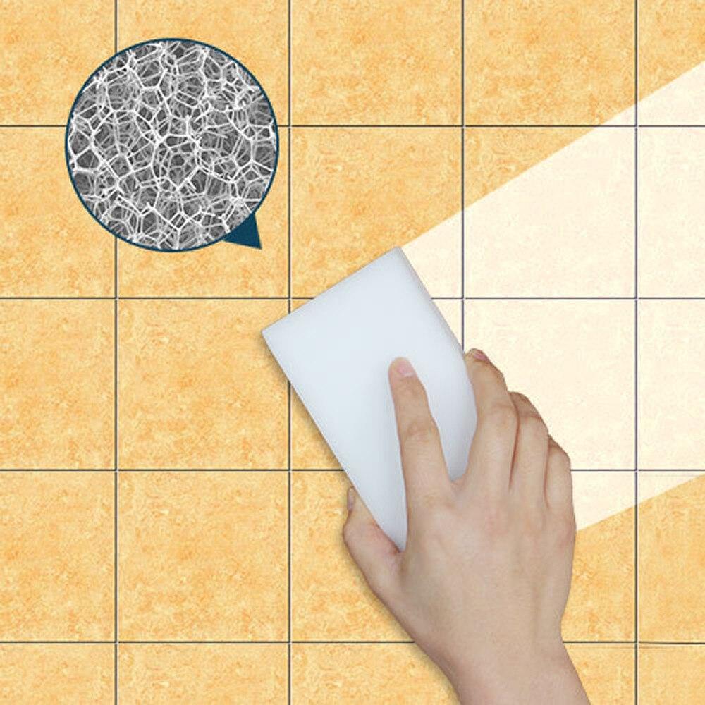Nova esponja mágica branca escova de lavagem da cozinha ferramenta de limpeza da cozinha