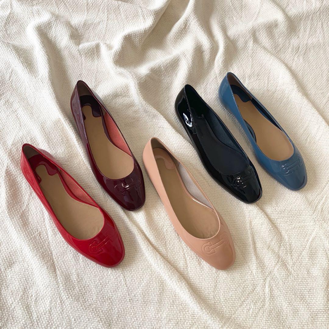 1 سنتيمتر أحذية مسطحة النساء أنيقة جلد طبيعي جلد الغنم الكلاسيكية جولة تو أحذية مصممين لينة دون الكعوب لسيدة db040