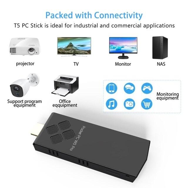 2020 New W5 Pro Mini Computer Stick Windowns 10 Mini PC I-ntel A-tom Z8350 4GB DDR 64GB eMMC Support 4K 2.4G/5.8G WiFi CC BT 4.2 8