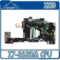 laptop motherboard for lenovo thinkpad tablet x220 x220t i7 2620m cpu qm67 gma hd3000 ddr3 04y1810 main board