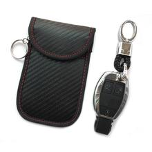 Key Case For Car Interior Accessories new carbon fiber anti-theft car shield remote control key set